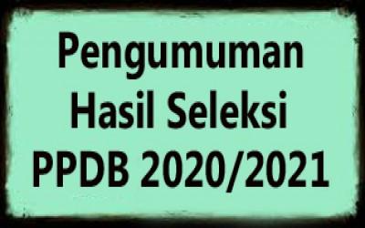 Pengumuman Kelulusan PPDB T.P 2020/2021 Gelombang I