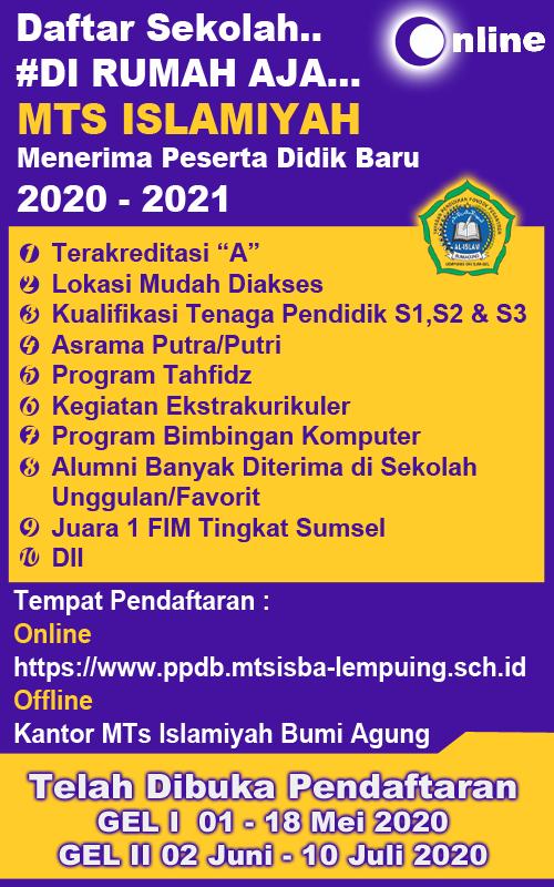 Banner PPDB MTs Islamiyah Bumi Agung